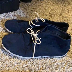 Navy booties